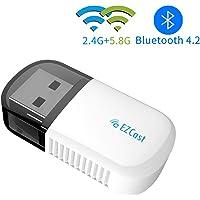 EZCAST Clé WiFi Adaptateur USB sans Fil Bluetooth 4.2 Double Bande 2.4G/5.8G 600 Mbps pour Windows XP / 7/8 / 10 / Vista, Mac OS
