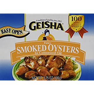 Geisha Smoked Oysters 3.75 oz (Pack of 6)