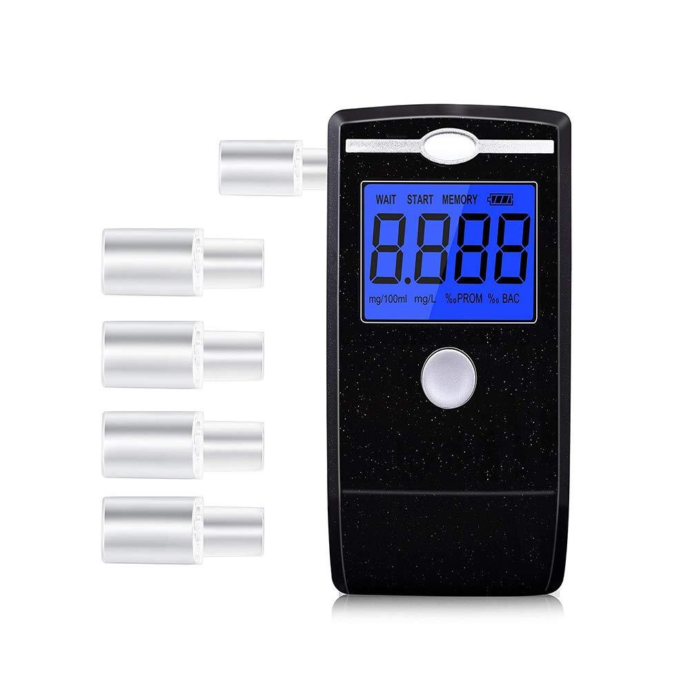 LZHOO Alkoholtester Tragbar Halbleiter Sensor Atemalkoholmessgerä t LCD Anzeige Promilletester Alkoholmessgerä te