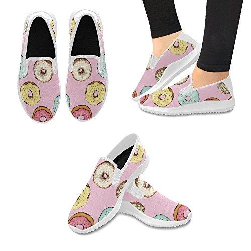 Interestprint Kvinna Slip-on Dagdrivaren Skor Duk Mode Sneakers Multi 2