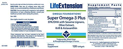 Life Extension Super Omega-3 Plus EPA/DHA With Sesame