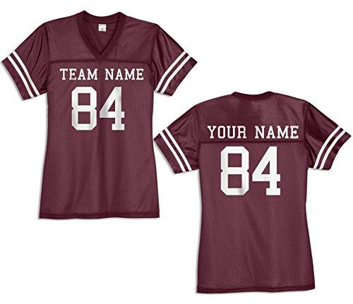 KAMAL OHAVA Custom Women's Replica Football Jersey, Maroon/White, ()