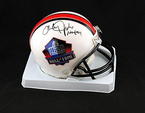 (Signed Charley Taylor Mini Helmet - Hall of Fame - PSA/DNA Certified - Autographed NFL Mini Helmets)