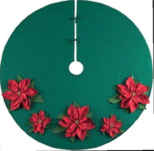 Christmas Tree Skirt - Poinsettia