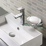 BOPai Elegant Suction Soap Dish,Powerful Vacuum Suction Cup Soap Holder,Bathroom Kitchen