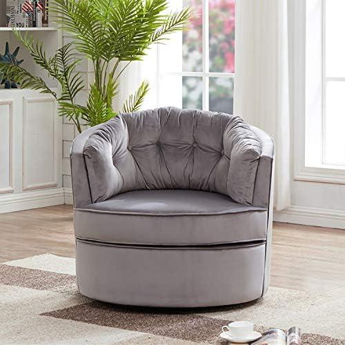 Henf Swivel Accent Chair Soft Velvet Chair