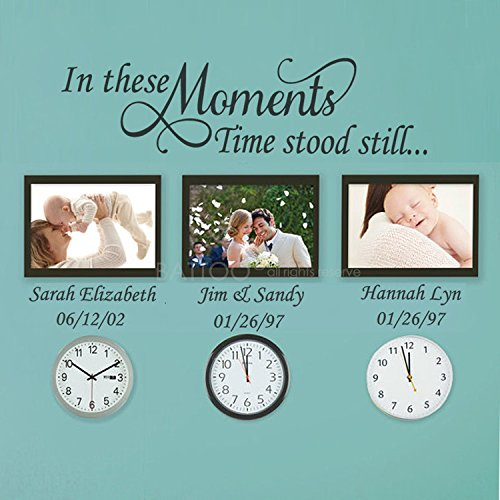 BATTOO In These Moments Time Stood Still Wall Decal - 40