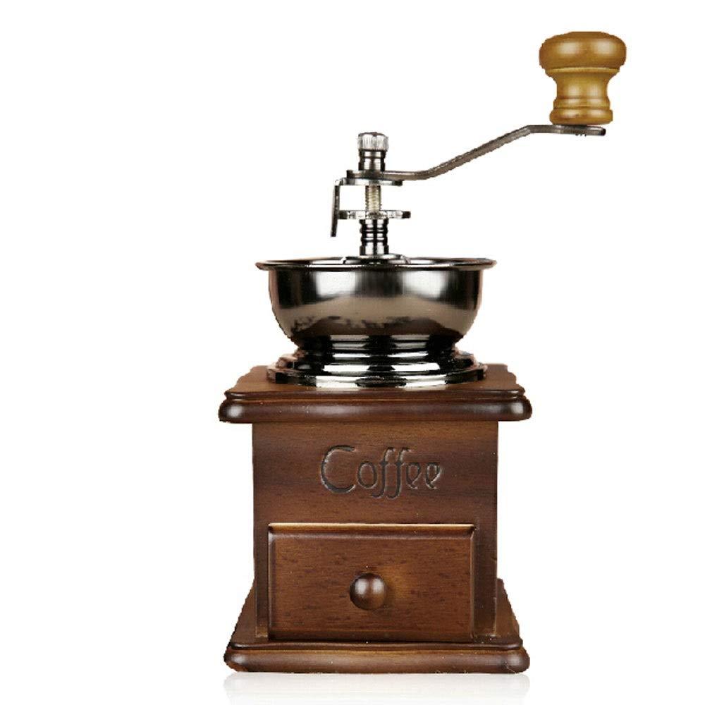 Fighrh Moulin /à caf/é en Bois en Caoutchouc Italien de Style Italien avec Noyau de mouture de caf/é de Style cr/éatif Moulin /à moudre de Machine /à caf/é Moulin /à moudre avec Moulin /à Main