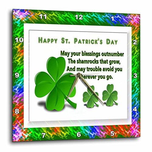 Wall Clock, St. Patrick's Day wall decor - Irish wall art