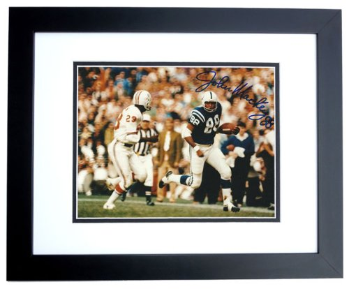 John Mackey Signed - Autographed Baltimore Colts 8x10 inch Photo BLACK CUSTOM FRAME