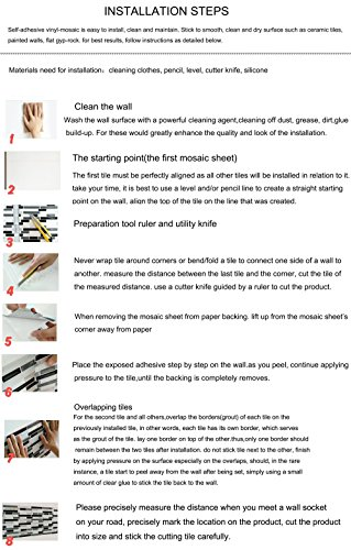 Vamos Tile Premium Anti Mold Peel And Stick Tile Backsplash Stick