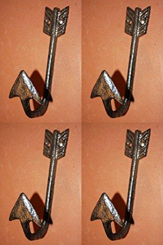 Archery Theme Bath Decor, Arrowhead Towel hooks, 6 inches, S