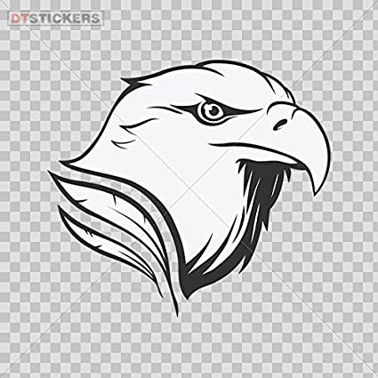 Decal Stickers American Eagle Head Motorbike Boat D217 26785