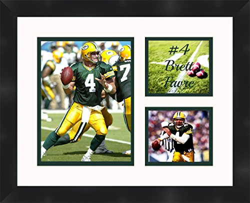 Brett Favre - Green Bay Packers, Framed 11 x 14 Matted Collage Framed Photos Ready to -