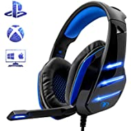 Gaming Headset for PS4 Xbox One PC, Beexcellent Noise Reduction Crystal Clarity 3.5 mm...