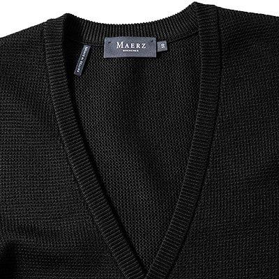 Maerz Herren Cardigan Baumwolle Jacke, Größe: 48, Farbe: Schwarz