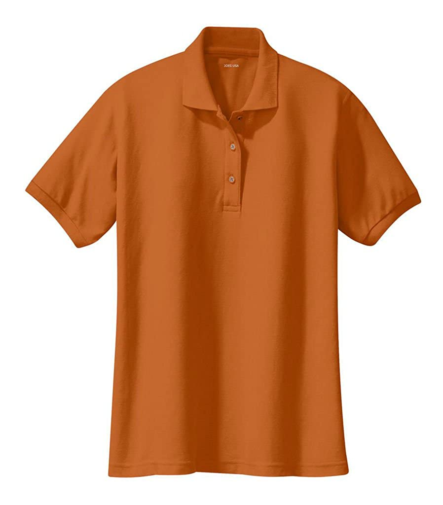 Joes Usa Ladies Short Sleeve Polo Shirts In 36 Colors And Sizes Xs
