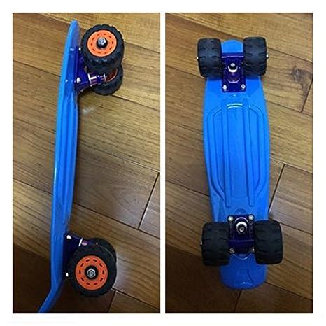 Stllshine Ruedas de Skate Longboard Mountainboard Skateboard Waveboard Part Wheel (Negro-Cuatro Ruedas de Goma): Amazon.es: Deportes y aire libre