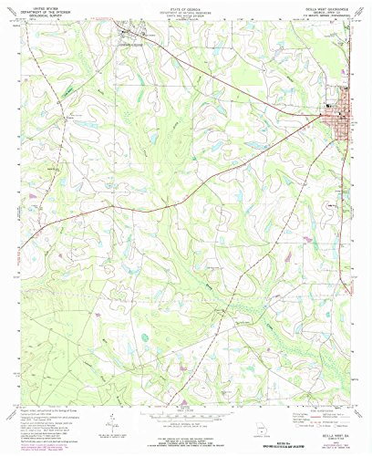 Ocilla West GA topo map, 1:24000 scale, 7.5 X 7.5 Minute, Historical, 1973, updated 1987, 27 x 22 IN - Paper