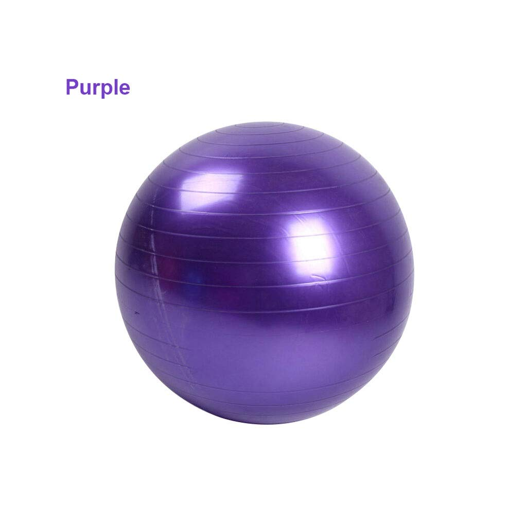 Thickened Explosion-Proof Yoga Ball PVC Smooth Matte Fitness Ball Pregnant Women Moving Ball Shaping Ball (Color : Purple, Size : 65cm)