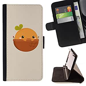 Jordan Colourful Shop - Cute Happy Orange For Apple Iphone 6 - Leather Case Absorci???¡¯???€????€???????????&
