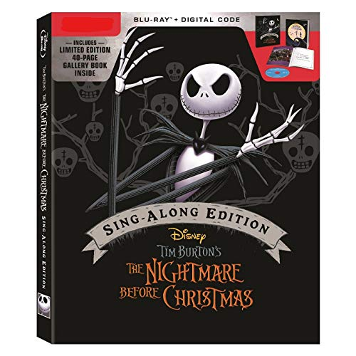 The Nightmare Before Christmas 25th Anniversary Limited Sing-A-Long Edition (Blu-Ray + Digital) with 40-page Gallery Book