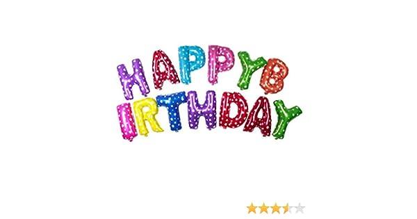 ULTNICE Globos Decoración para Cumpleaños HAPPY BIRTHDAY Feliz Cumpleaños Alfabeto Letra Globos Colorido