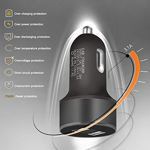 van Charger Adapter LIGHTUPRO Cigarette Lighter 12V 24V LED present Voltmeter Current 31A two times USB 2 ports for any iOS or Android DevicesiPhone iPad Samsung and extra Adapter very easy 2 USB port van Chargers