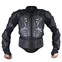 Webetop Mens Mesh Motorcycle Protective Jacket With Armor Full Body Spine Chest Shoulder Back Protector Gear for Motorbike Motorcross Racing MTB Black,S