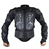 Webetop Mens Mesh Motorcycle Protective Jacket With Armor Full Body Spine Chest Shoulder Arm Protector Gear for Motorbike Motorcross Racing MTB Black 3XL