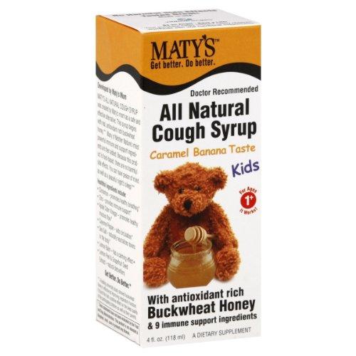Maty's Cough Syrup, Kids, All Natural, Caramel Banana Taste, 4 oz.