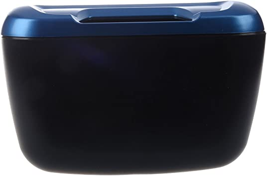 SODIAL(R) Cubo de basura plastico azul negro de coche vehiculo ...