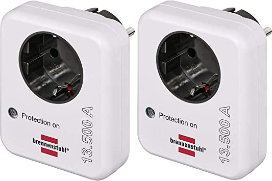 Brennenstuhl Berspannungsschutz Adapter 2er Set Elektronik