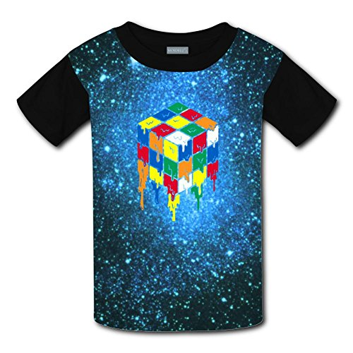 Kids Stylish Casual Design Melted Cube 3D Printed Short Sleeve T Shirts (Brittany Youth Sweatshirt)
