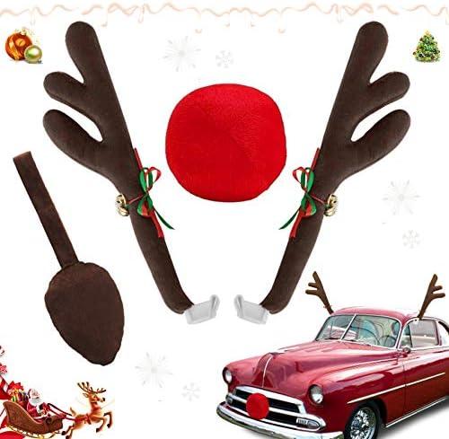 Sunshine smile Corna di Renna, Auto Veicolo Natale Decorazione, Corna Renne, Renna Antler, Corna di Renna di Natale, Decorazione Auto Natale, Auto Accessori Macchina Natalizi (B)