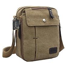 Donalworld Leisure Small Satchel Bag Canvas Shoulder Bag Outdoor Travel Bag