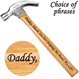 Gift for Father - Laser Engraved Hammer (Daddy, Thank You For Helping Me Build My Life!)