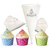 BakeLux 16-Inch Piping Bags (3 Pack) - Commercial Grade Reusable Cotton Icing Pastry Bags