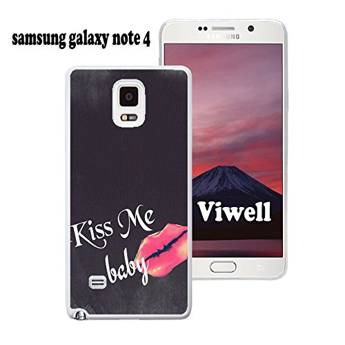 Galaxy Note 4 Case Viwell Samsung Galaxy Note 4 Case Laser printing New Cool kiss me baby (Note 4 Case Spongebob)