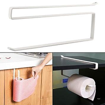Rodillo de Papel Toalla Soporte Colgante - Metal Inoxidable para Armario de Cocina Almacenamiento de baño: Amazon.es: Hogar