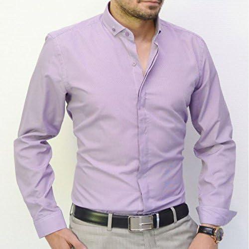 Camisa italiana, diseño a cuadros, color morado lila: Amazon.es: Ropa y accesorios