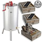 Goodland Bee Supply 2 Frame Honey Extractor,with 2 complete Super hives and frames and Complete Beekeepers tool kit - GLESUPERX2CTS1