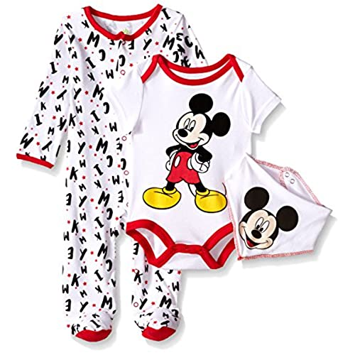 Mickey Mouse Costume Bodysuit Set for Baby - Personalizable Cuddle up with your cutie in this Mickey Mouse costume bodysuit. Complete with ear beanie cap and embroidered character details, your baby will quickly transform into everyone's favorite little mouse.