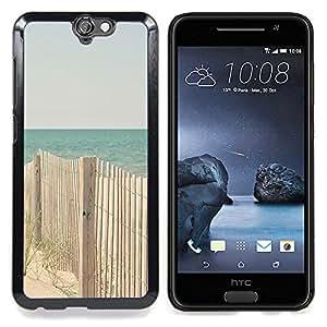 - Fence Beach Ocean Blue Sand Seashore/ Duro Snap en el tel????fono celular de la cubierta - Cao - For HTC ONE A9