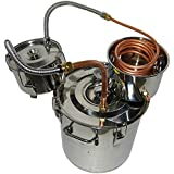 OLizee® 8 Gal Stainless Steel Water Alcohol Distiller Copper Tube 30L Moonshine Still Spirits Boiler Home Brewing Kit with Thumper Keg