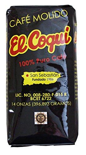 Puerto Rico Cafe El Coqui Ground Coffee Bag 14 Ounce Bag