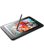"""Parblo Coast13 Large 13.3"""" IPS Graphic Tablet 1920x1080 with 8192 Pen Pressure Resolution 5080 LPI Drawing Pen Monitor with 8 Customizable Keys and Batteryless Passive Pen + USB Type C Cable"""