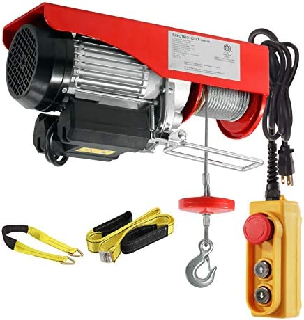 Cranes & Hoists 1760Lbs Electric Wire Cable Hoist Winch Lifting ...
