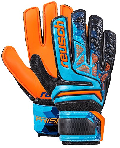 Reusch Soccer Reusch Prisma SD Easy Fit Junior LTD Goalkeeper Glove Orange/Blue, (Easy Fit Gloves)