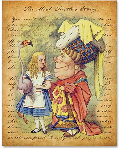Alice in Wonderland - Alice and the Queen - 11x14 Unframed Alice in Wonderland Print- Makes a Great Gift Under $15 for Disney Fans or Kid's Room -